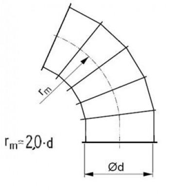 Līkums segmenta R-2,0d 60°, ar atloku